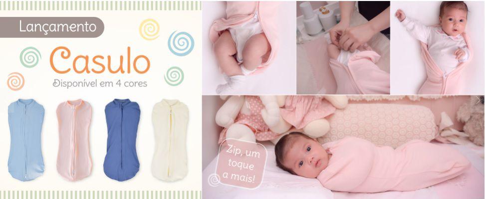 Casulo para Bebê Azul com Zíper - Zip Toys