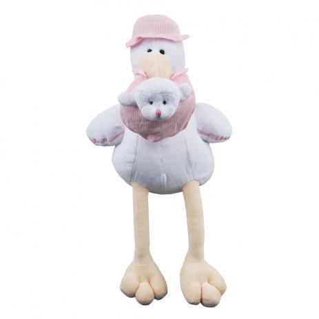 Cegonha Rosa Bebê - Zip Toys