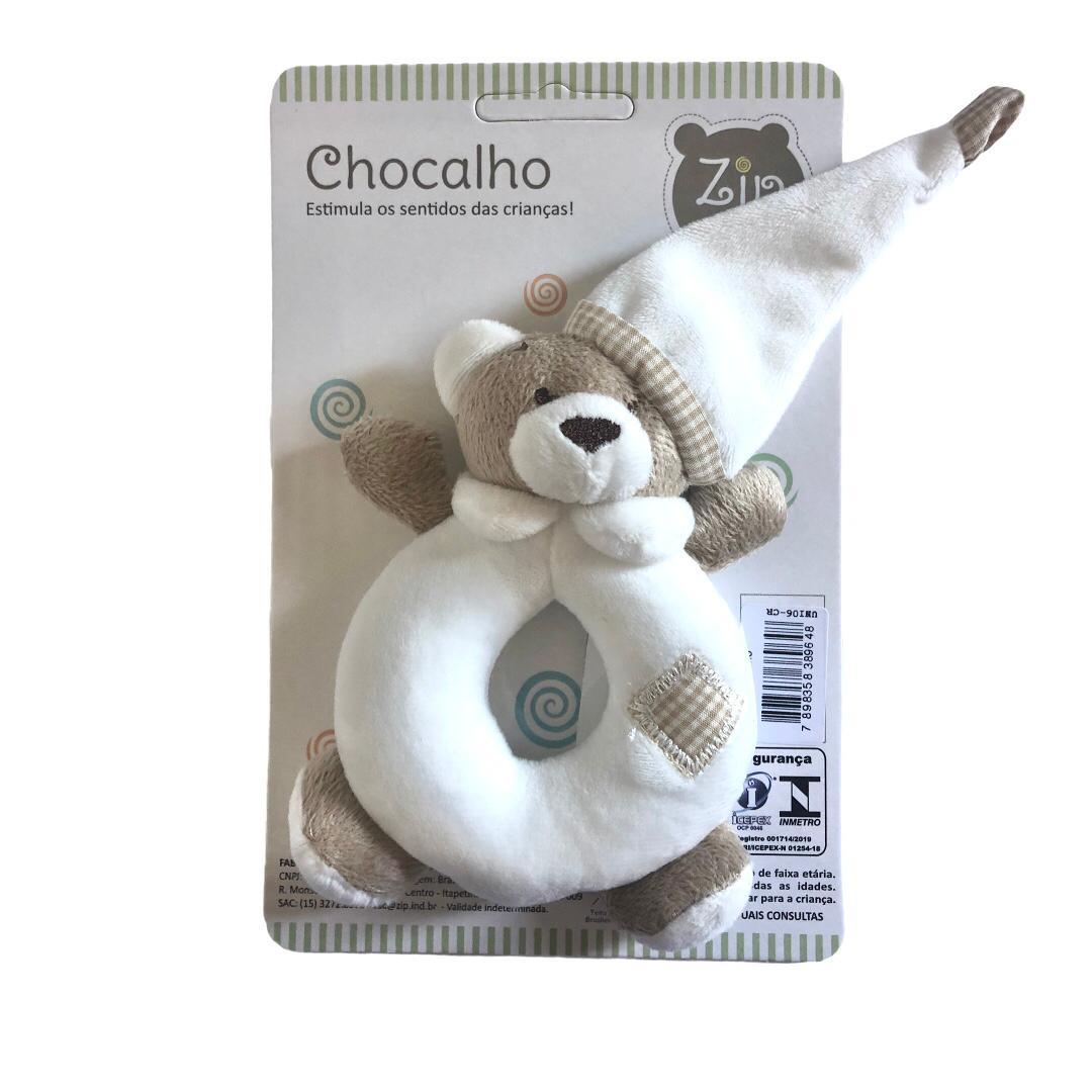 Chocalho Urso Nino Bege - Zip Toys
