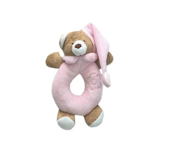Chocalho Urso Nino Rosa - Zip Toys