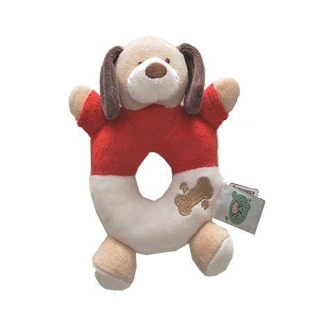 Chocalho Zip Toys - Cachorro Vermelho