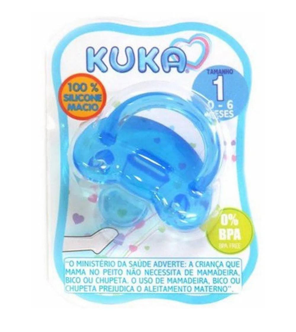 Chupeta Soft Silicone Ortodôntica Azul 0 a 6 meses - Kuka