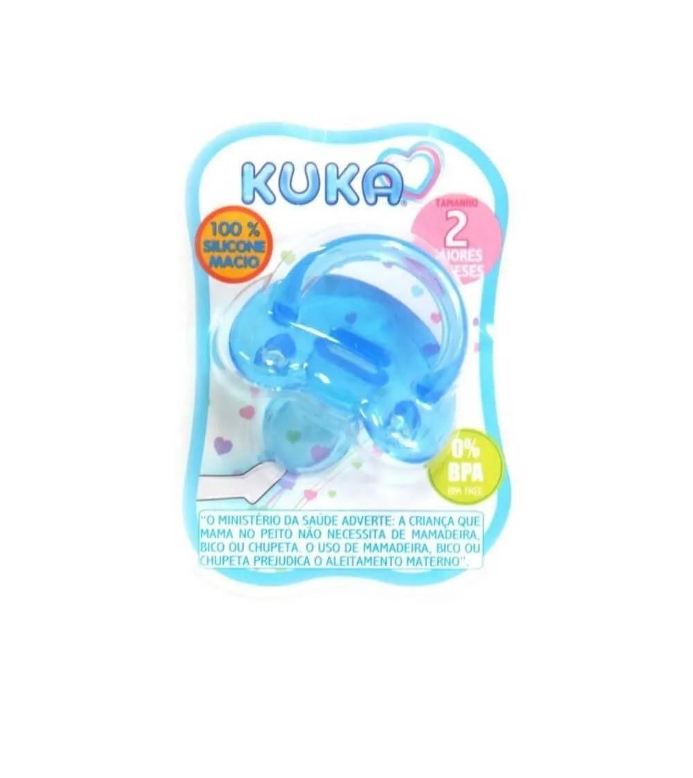Chupeta Soft Silicone Ortodôntica Azul 6+ meses - Kuka