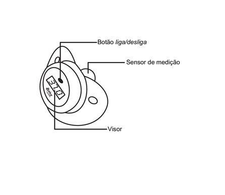 Chupeta Termômetro Digital - Incoterm
