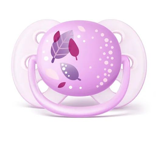 Chupetas Ultra soft Decorada Lilás - Philips Avent - 0 a 6 meses