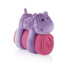 Cobertor Travesseiro Bicho de Pelúcia - Multikids Baby - Hipopotamo