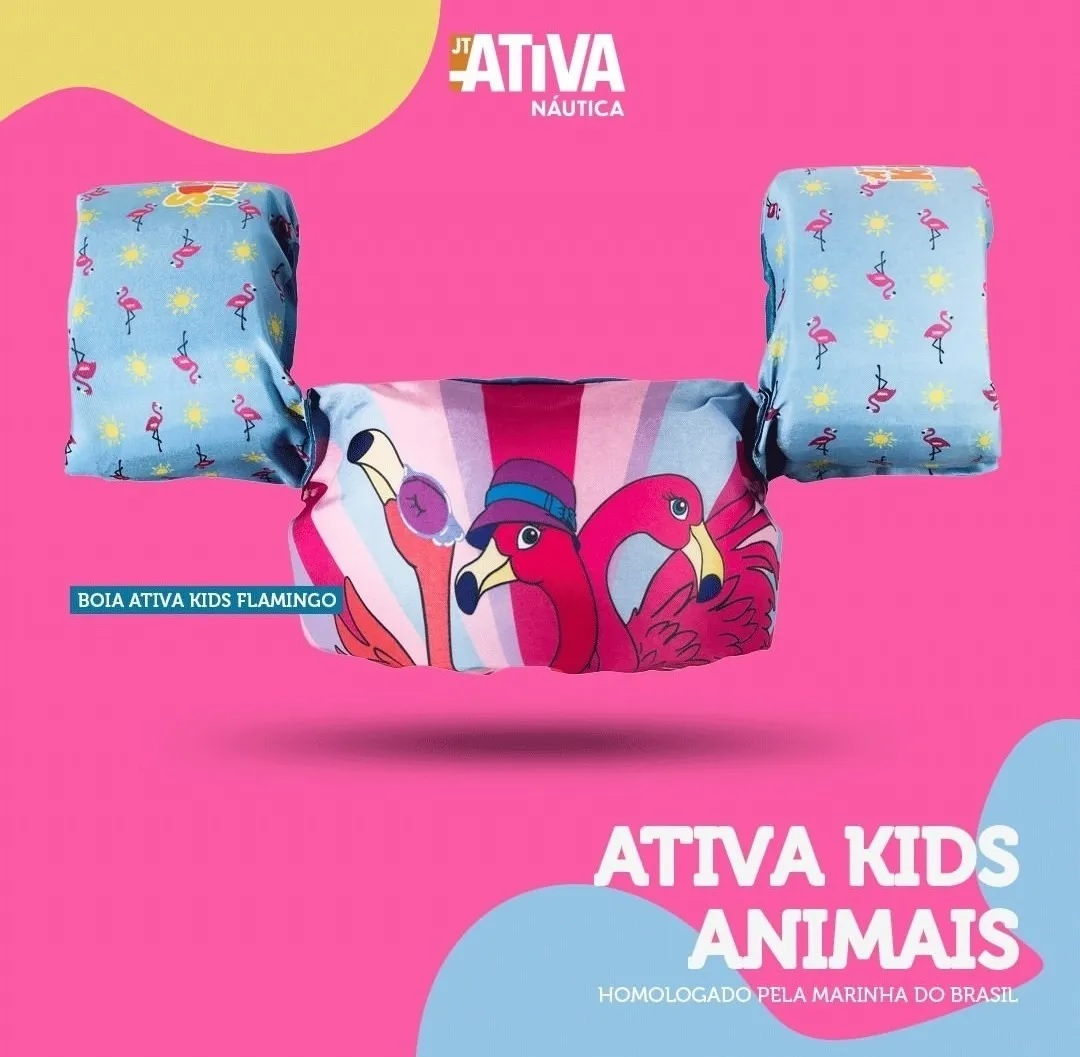 Colete Ativa Kids - Flamingos