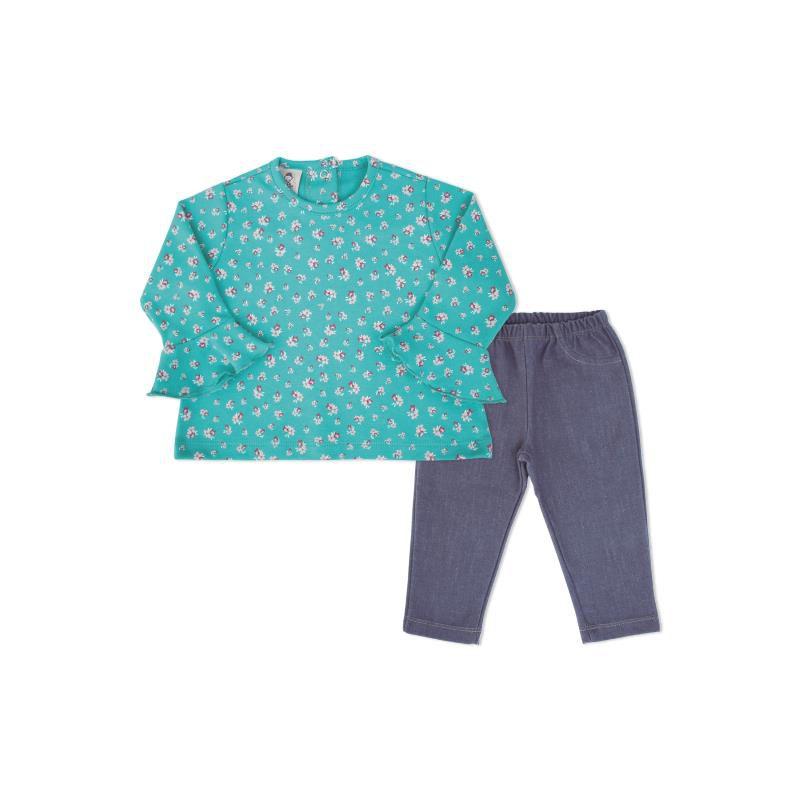Conjunto Bata Floral e Calça - Piu Blu