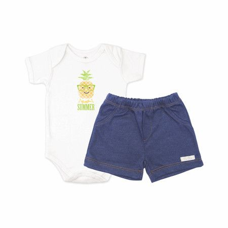 Conjunto Body Abacaxi e Shorts - Piu Blu