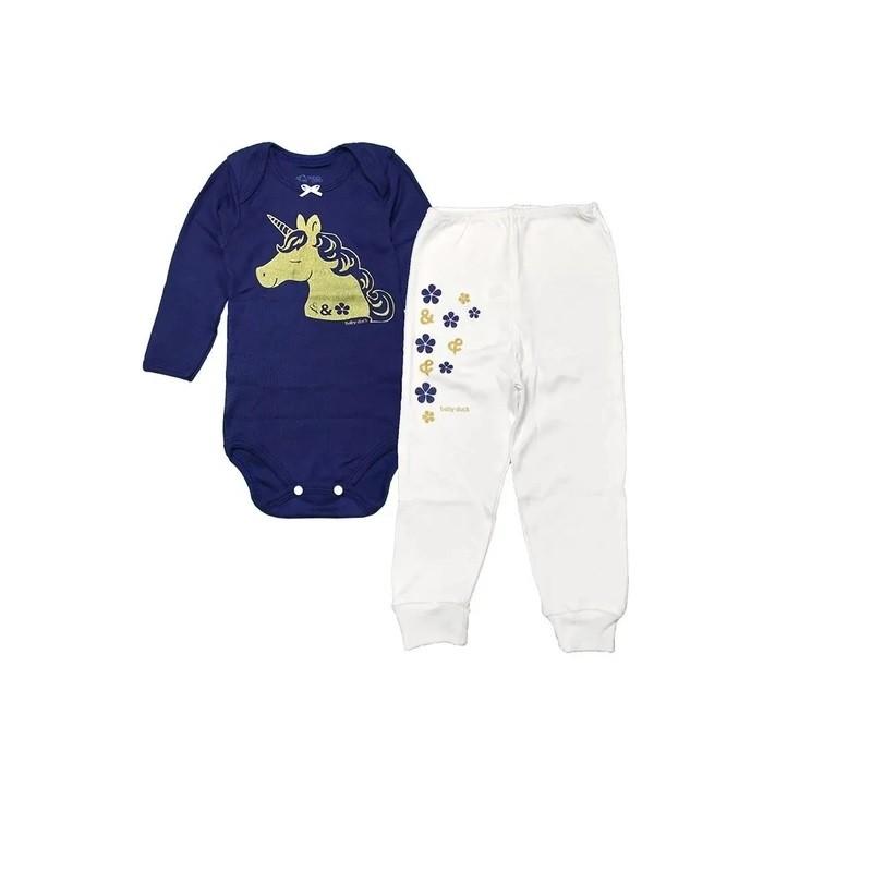 Conjunto Body Bebê e calça Unicórnio - Baby Duck