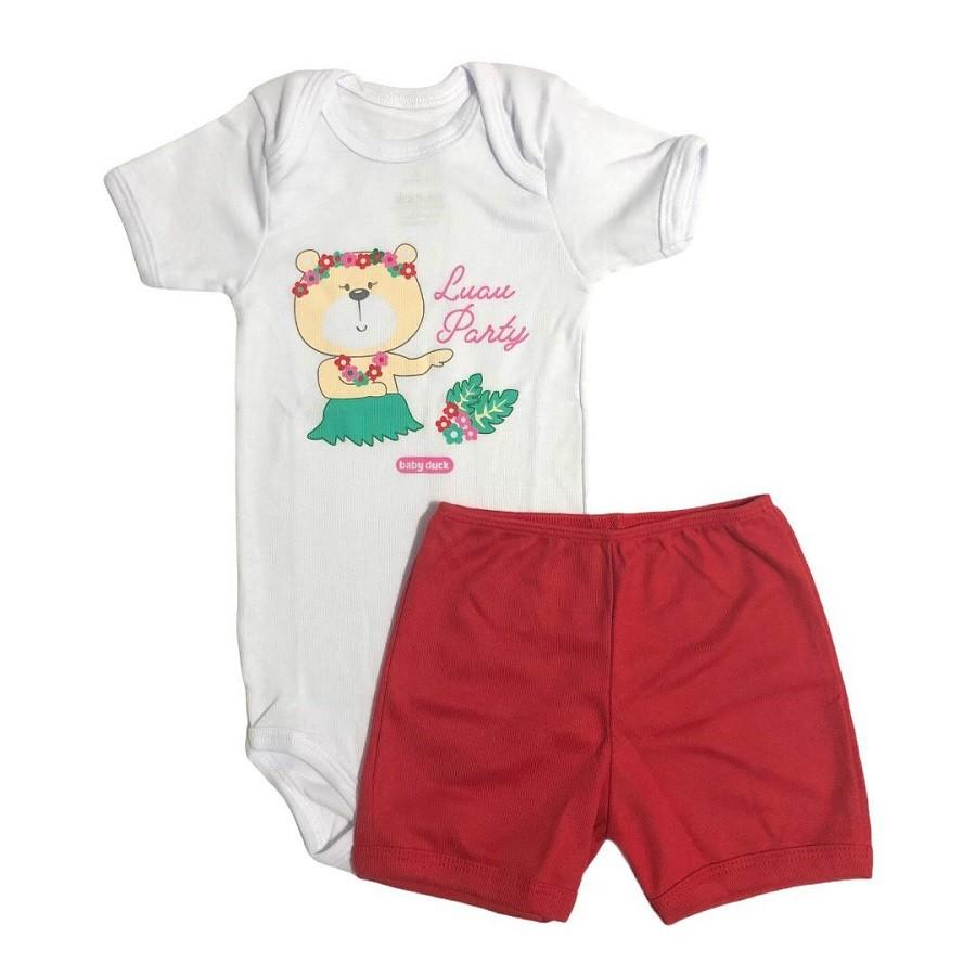 Conjunto Body Bebê e Shorts Lual da Ursinha - Baby Duck