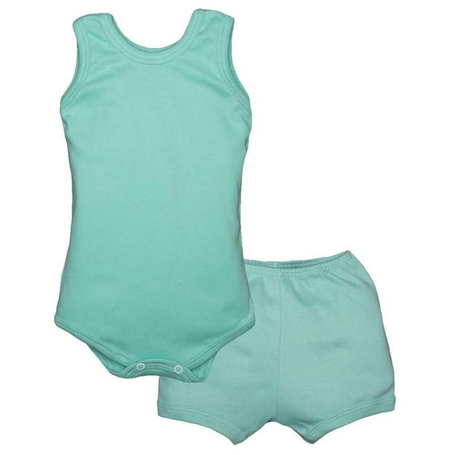 Conjunto Body Bebê Regatinha e Shorts Jade - Baby Duck