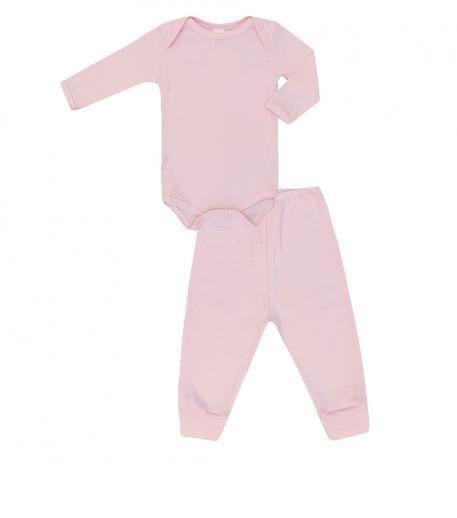 Conjunto Body e Calça Basico Rosa - Baby Duck - Tamanho G