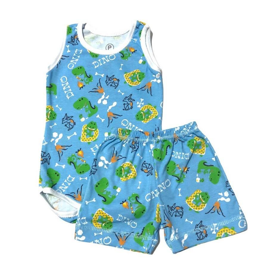 Conjunto Body e Shorts Dino - Bebê Brincalhão