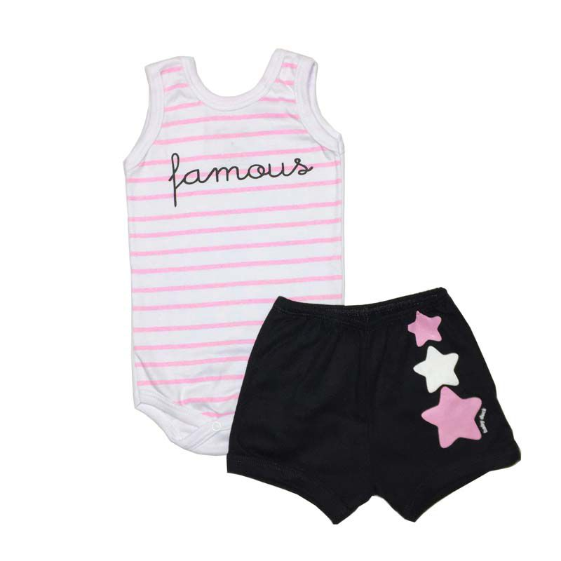 Conjunto Body Regata e Shorts Famous - Baby Duck