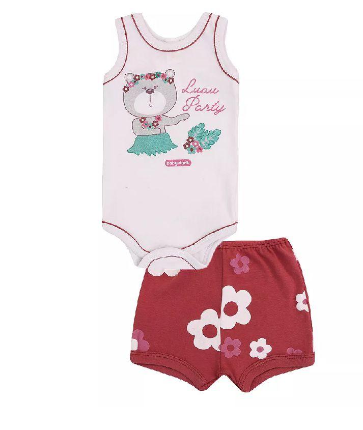 Conjunto Body Regata e Shorts Lual - Baby Duck - Tamanho M