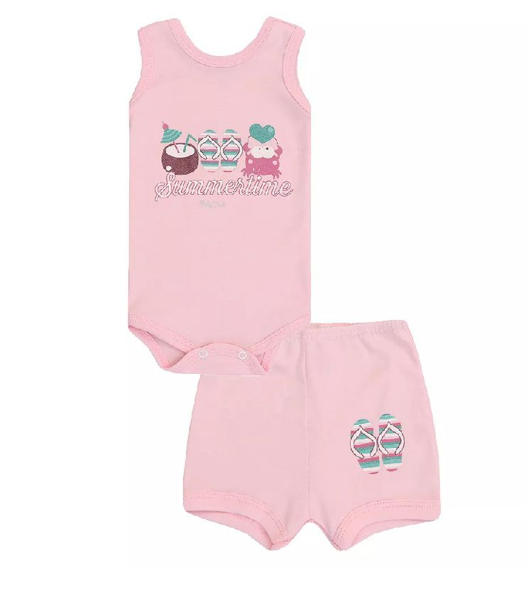 Conjunto Body Regata e Shorts Summer - Baby Duck