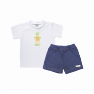 Conjunto camiseta e shorts abacaxi - Piu Blu