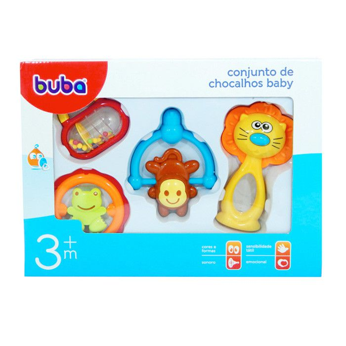 Conjunto Chocalhos Leão Baby - Buba Baby