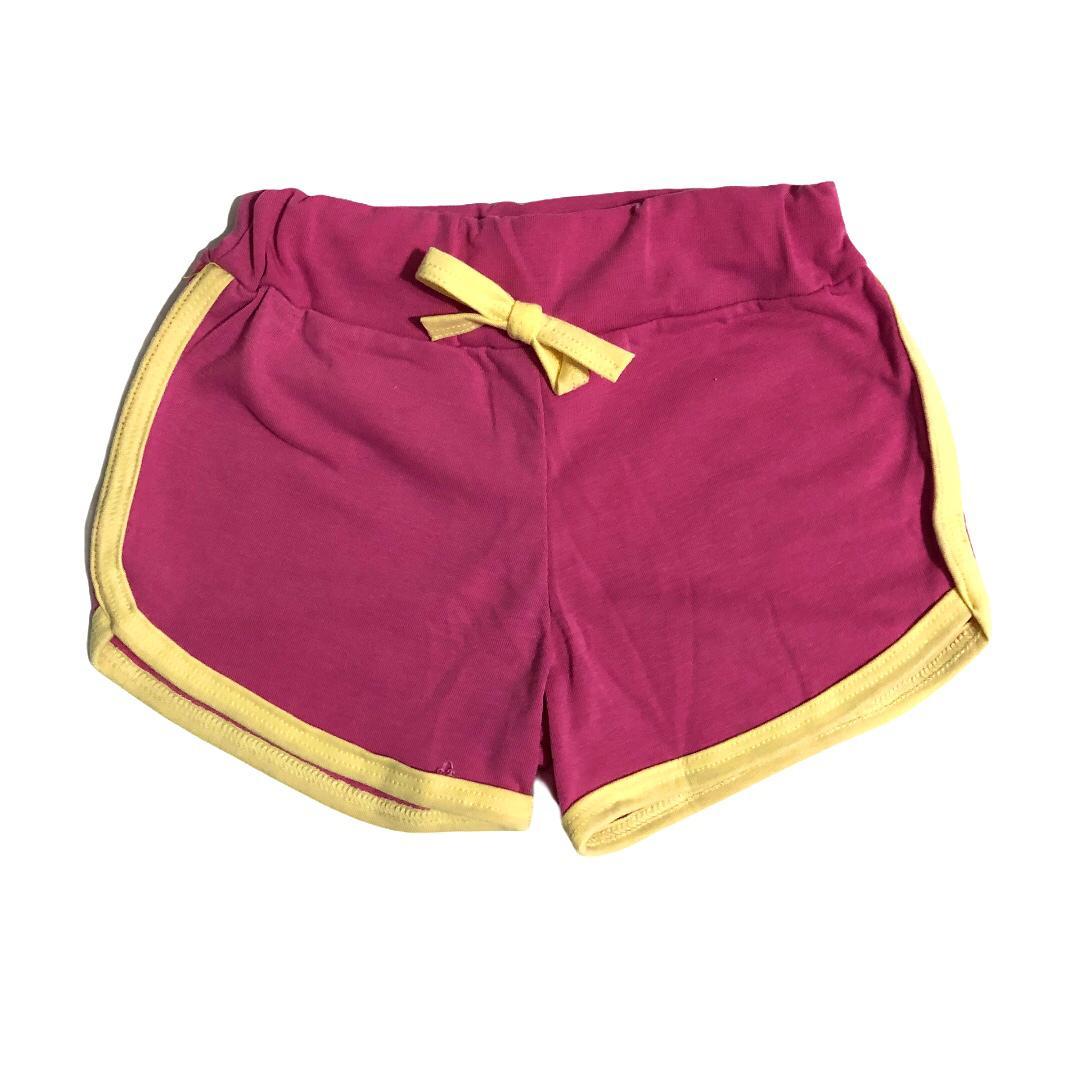 Conjunto infantil camiseta Lhama amarela e shorts rosa - ClubB