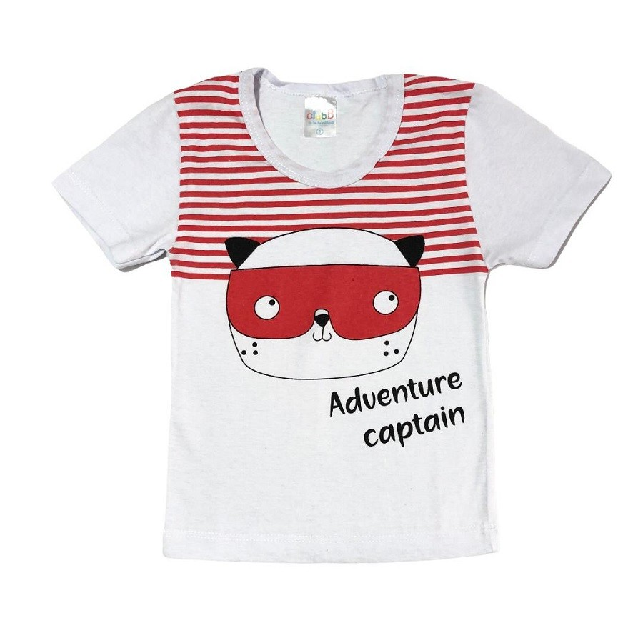 Conjunto Infantil Camiseta Malha e Bermudinha Capitão Dog - ClubB