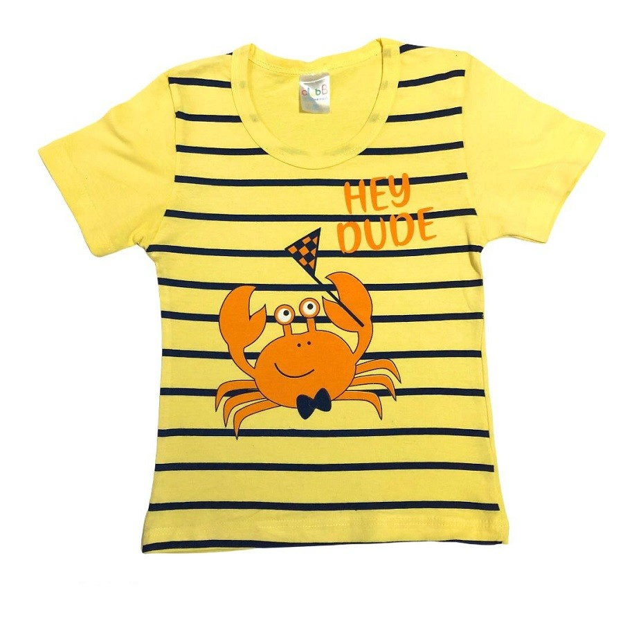 Conjunto Infantil Camiseta Malha e Bermudinha Caranguejo - ClubB