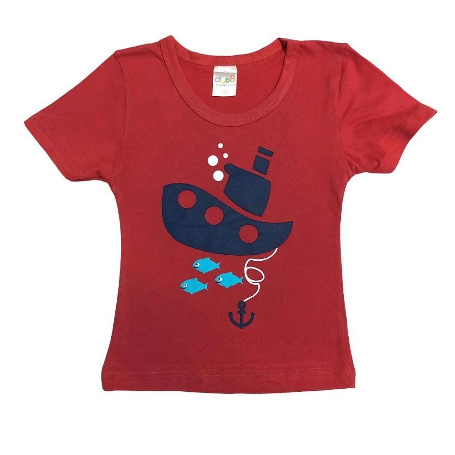 Conjunto Infantil Camiseta Malha e Bermudinha Submarino - ClubB