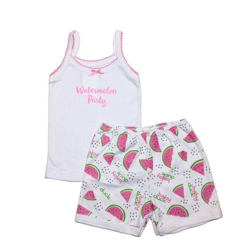 Conjunto Regatinha e Shorts Melancia - Baby Duck