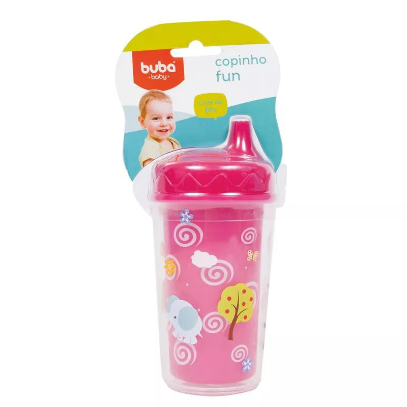 Copinho Bico Rígido Fun Rosa 230ml - Buba Baby