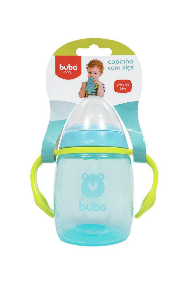 Copinho com Alça e Bico Silicone Azul - Buba Baby