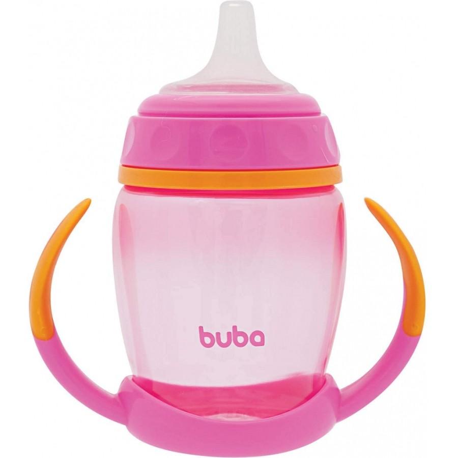 Copo com Alça Removível Rosa 250ml - Buba Baby