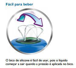 Copo Easy Sip Bico Silicone Philips Avent - Azul 260ml