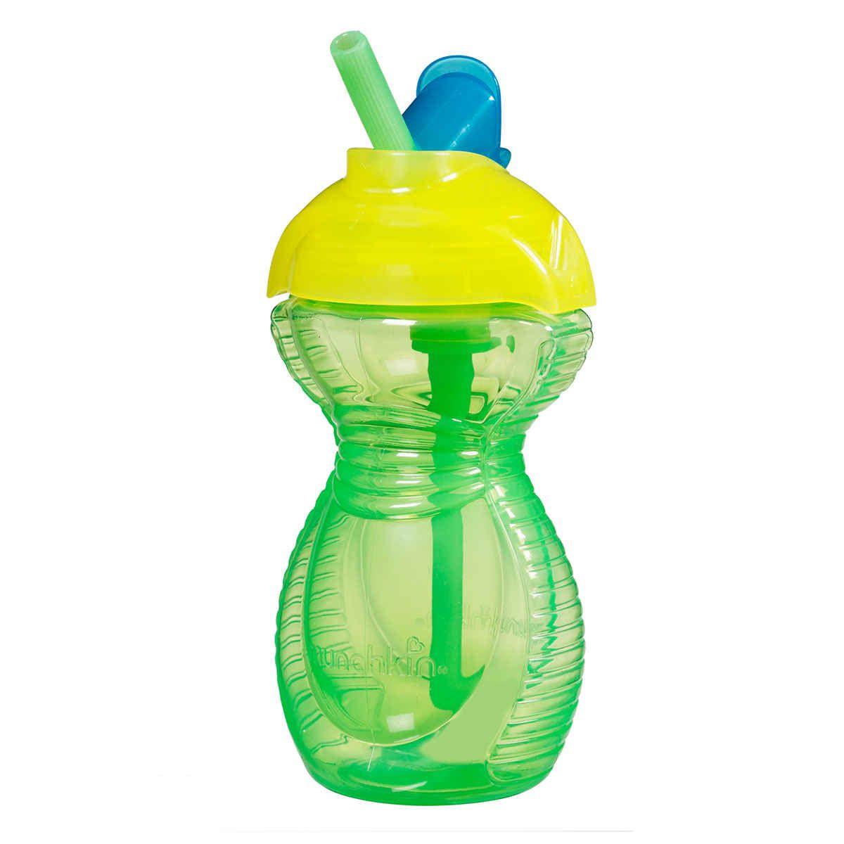 Copo Flip Straw Com Canudo - Verde e Azul
