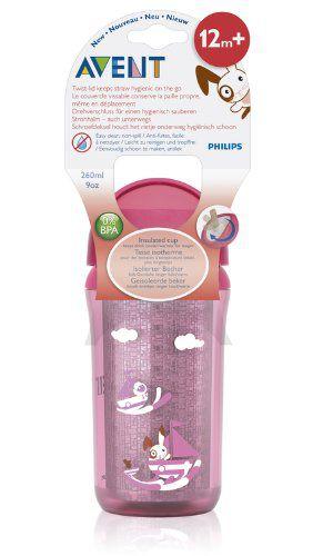 Copo Insulado Rosa Philips Avent - 260ml