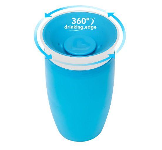 Copo Miracle Grande 360 - Azul 296ml - Munchkin