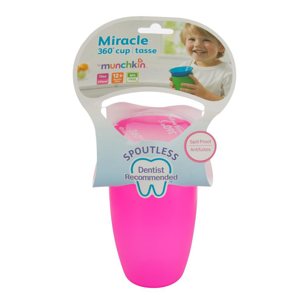 Copo Miracle Grande 360 - Rosa 296ml - Munchkin