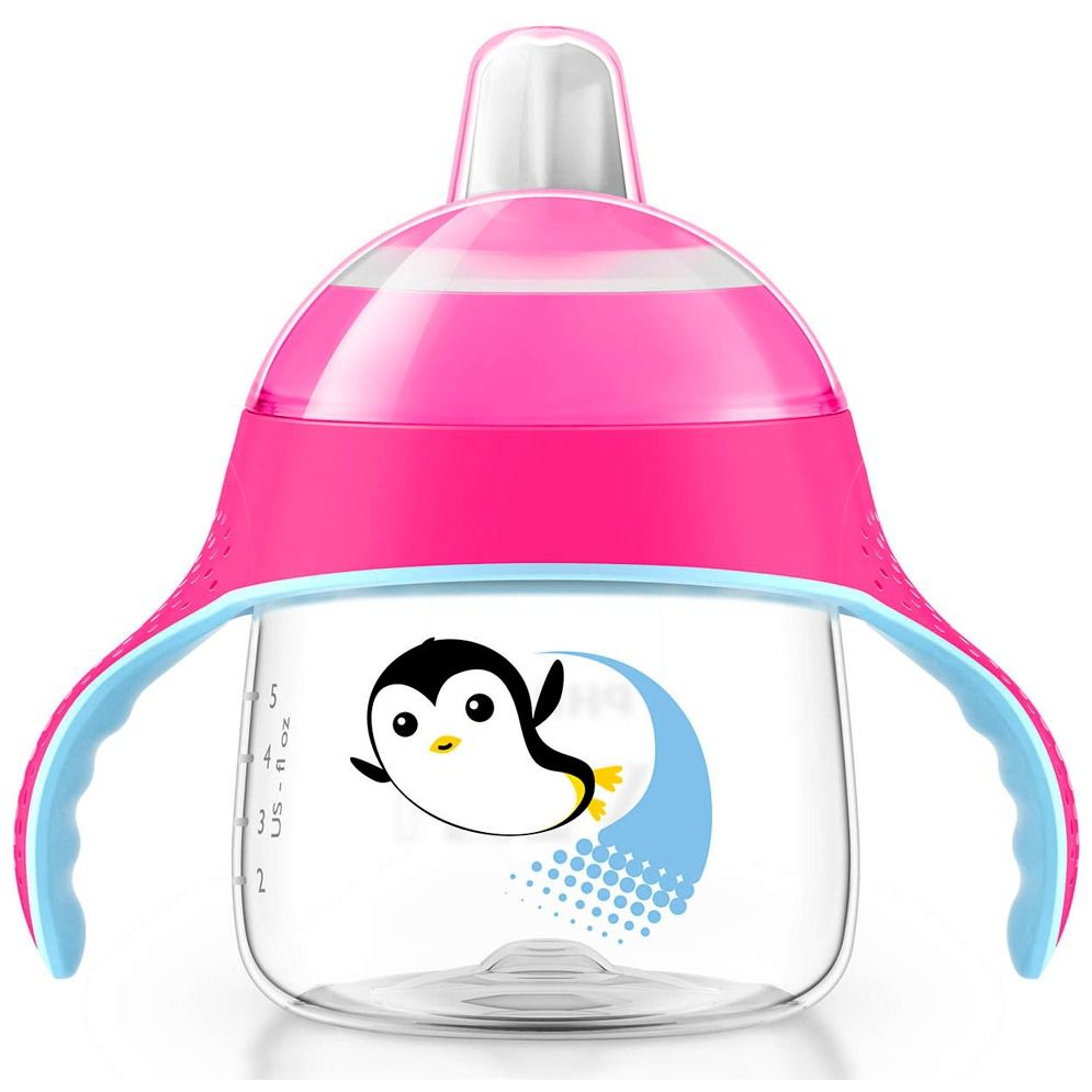 Copo Pinguim Philips Avent - 200ml Rosa