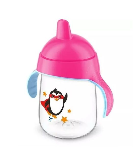 Copo Pinguim Philips Avent Rosa - 340ml
