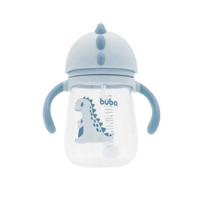 Copo Treinamento com Alça Dino Cinza - Buba Baby