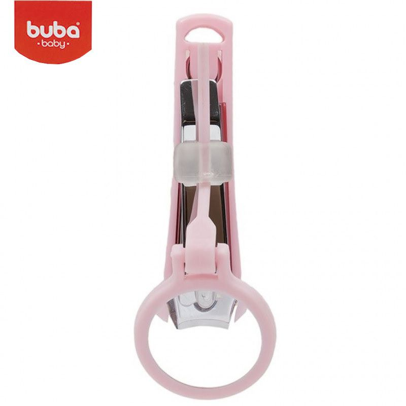 Cortador de Unha com Lupa Rosa - Buba Baby