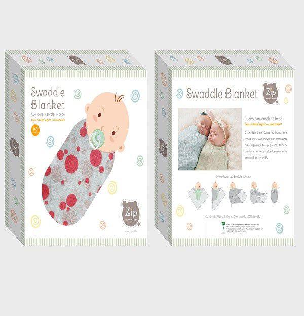 Cueiro Swaddle Blanket Animais - Zip Toys