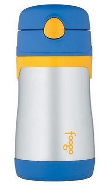 Garrafa Termica Thermos Fogo - Azul/Amarelo