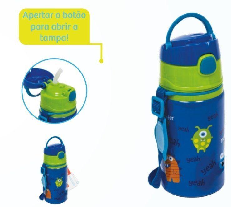 Garrafinha Alumínio com Canudo Monster Star - Buba Baby