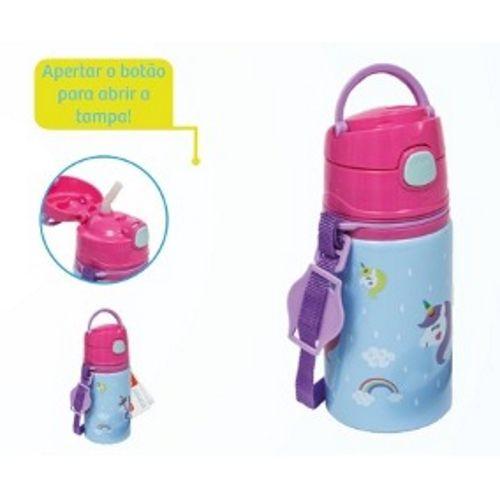 Garrafinha Alumínio com Canudo Unicórnio Star - Buba Baby