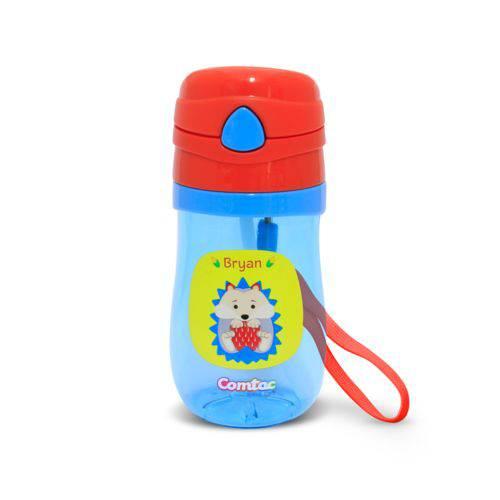 Garrafinha com Canudo Silicone Porco Espinho - Comtac Kids