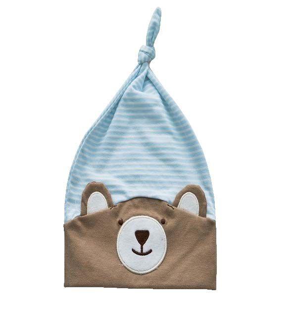 Gorro do Urso Nino Azul - Zip Toys