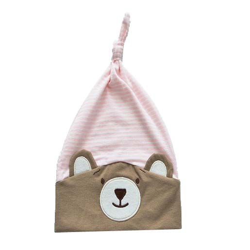 Gorro do Urso Nino Rosa - Zip Toys