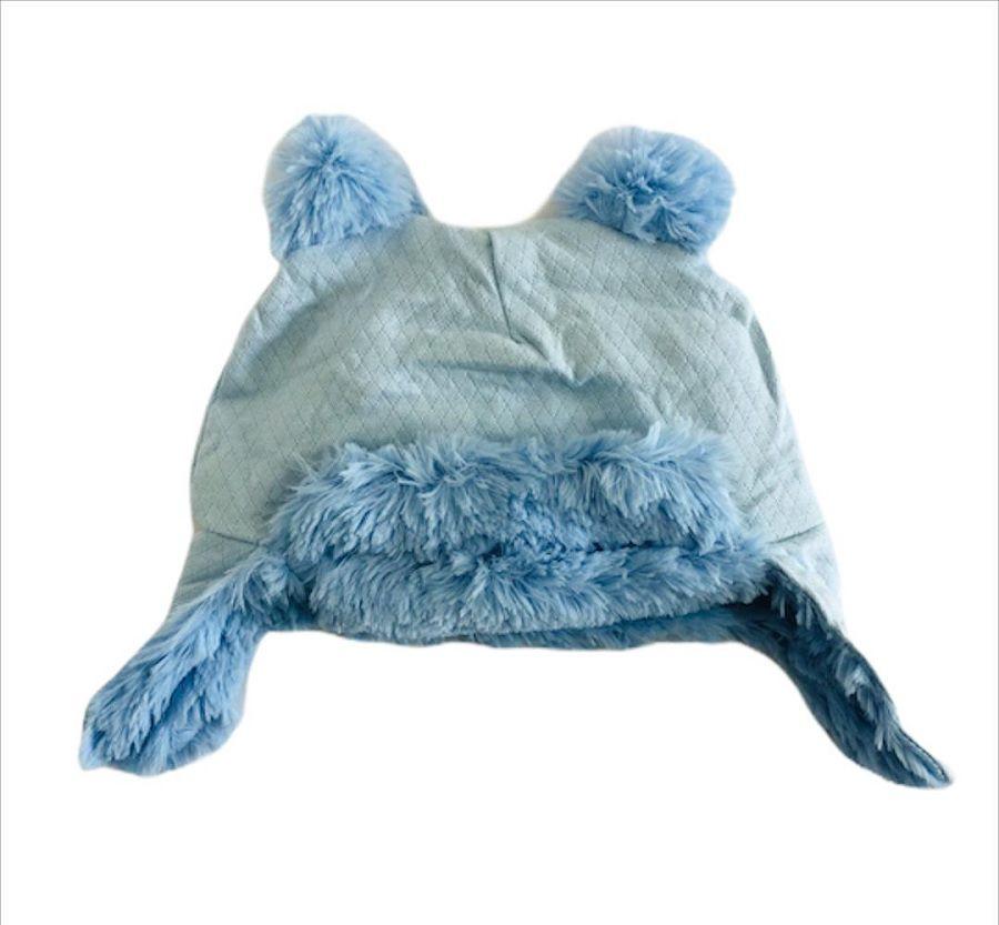 Gorro em Matelasse Azul com Orelhinha - Zip Toys