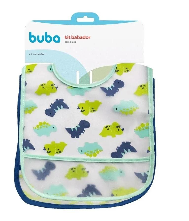Kit 2 Babadores Impermeável Dino - Buba Baby