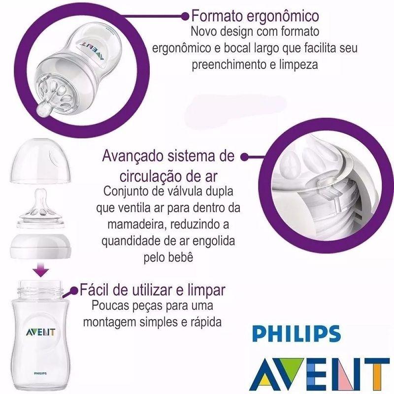 Kit 2 Mamadeira Pétala 125ml e 260ml Rosa - Philips Avent